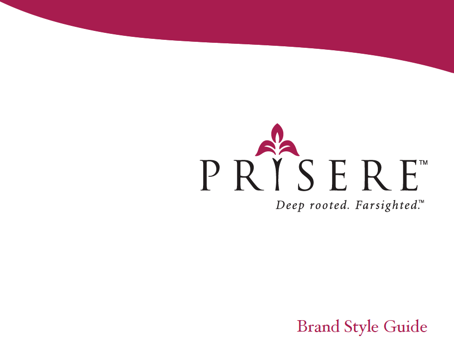 Cover of Prisere Brand Style Guide